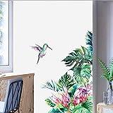 Tony plate Novedad Tropical Beach Palm Hojas Hojas Balcón Papel Pintado Decoración de la Boda Flor Etiqueta de la Pared Vinilo