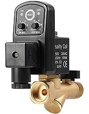 Válvula de drenaje automática, G1 / 2 DN15 Válvula de drenaje temporizada electrónica automática para la gestión del condensado del compresor de aire(AC230V)