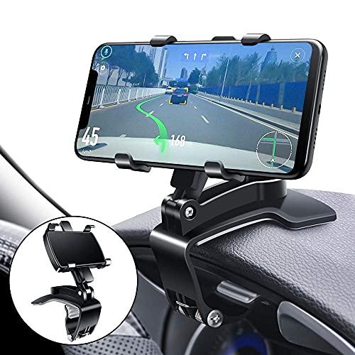 CEUTA Car Phone Holder Mount, Mobile Phone Holder for Car 360 Degree Rotation Dashboard Clip Mount Car Phone Stand Car Dashboard Universal Mobile Phone Stand ( Black )