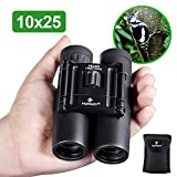 HUTACT Binoculars Compact, 10x25 Small and Lightweight, for Concert Theater Opera, Mini Pocket