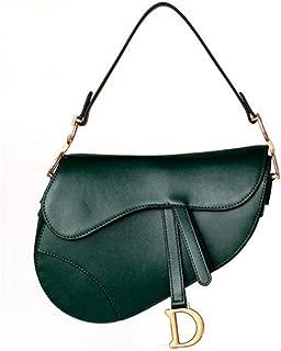 ACTLURE Women Cowhide Leather Saddle Shoulder Crossbody Handbag Purse