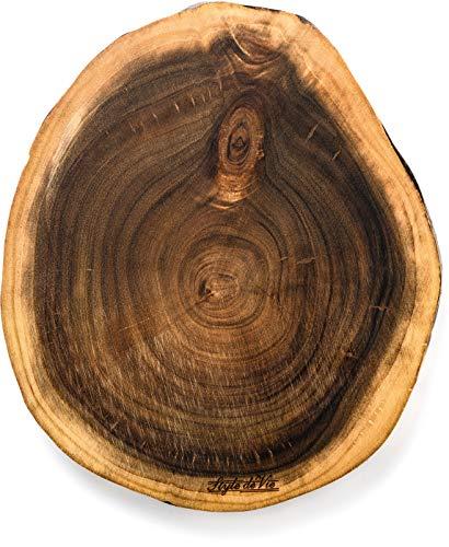 Style de Vie Serveerplank, Acaciahout, Rond middelgroot, Geschikt voor borrel, tapas of als broodplank, Behandeld met natuurlijk olie