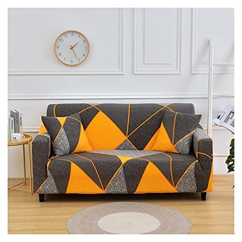 QYSM Cubierta Moderna de sofá Impreso Sala de Estar Sofá Flexible Funda de Esquina Modular Sofá de sofá Sillón Sofá Cubierta 1/2/3/4 Asiento Poliéster (Color : 7, Size : 3 Seater 190-230cm)