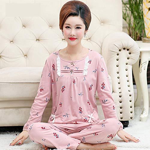 Wenhua Damen Schlafanzug, Baumwolle erhöht den Schlafanzug der Mutter zu Hause,...