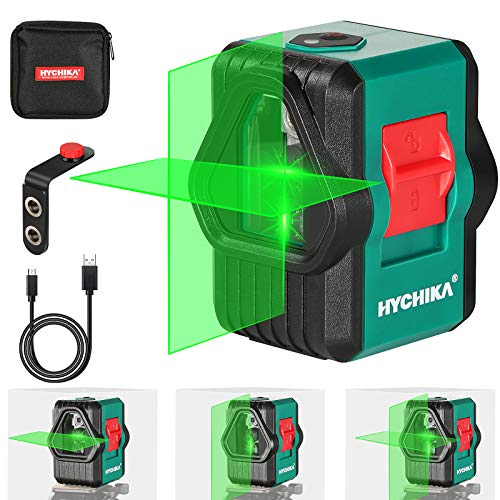 Laser Level, HYCHIKA 30M Self-Leveling Green Laser Level for Outdoor, Dual...