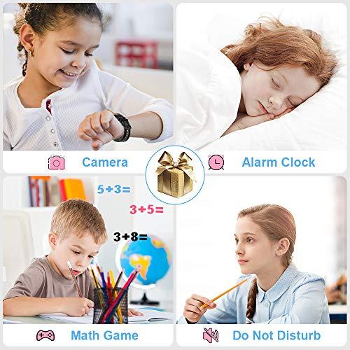 Vannico Kinder Smartwatch Telefon - IP68 wasserdichte Kids Smart Watch mit LBS Voice Chat Kameraspiel Wecker Geschenk für Jungen Mädchen (Schwarz)