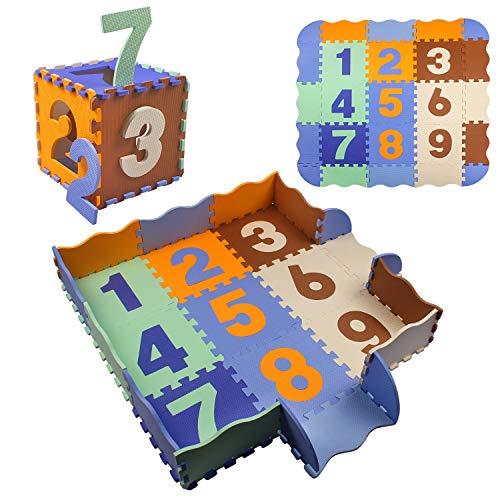 StillCool Puzzle Tapis Mousse Bébé avec Clôture, 25 Pièces Tapis de Jeu Très Résistant pour...