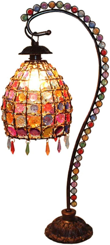 Rustikale Multi-Farbe Kristall Tischlampe von Hands zeitgenssische dekorative Tischleuchte für Geschfte Cafés Metall E14 220V-240V