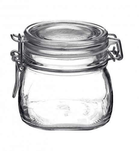 Einmachglas mit Bügelverschluss - Original Bormioli Fido - Größe: 0.5 Liter