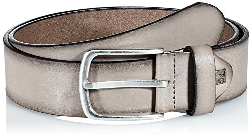 Lindenmann The Art of Belt Mens leather belt/Mens belt, full grain leather belt with effect, unisex, taupe, Größe/Size:115, Farbe/Color:beige