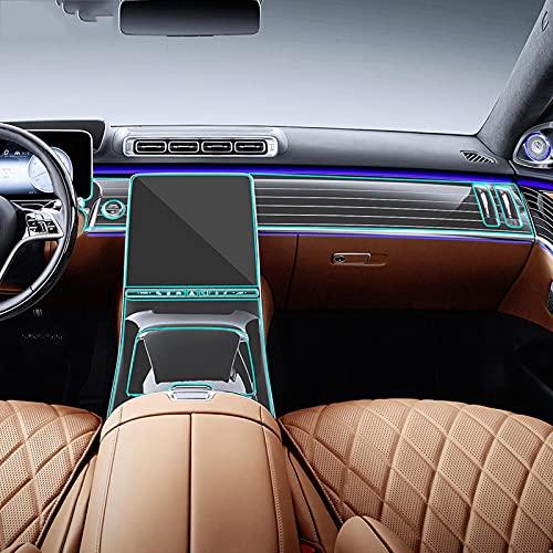 LSDJPO Car Interior Console centrale Gear Cruscotto Pannello di navigazione Pellicola protettiva per schermo, per Mercedes Benz Classe S W223 2021 AMG