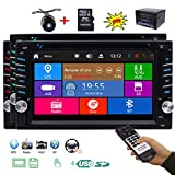 EinCar Double 2 Din Car Stereo Bluetooth System in Dash Car Radio GPS Navigation Head Unit 6.2 inch Capacitive Touchscreen FM/AM Audio Car DVD Player 3 Types of UIs Free Remote Rearview Camera