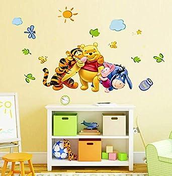 SchwartsCount Winnie the Pooh Wall Decals - Kids Rooms Winnie the Pooh Decals - Removable PVC Peel and Stick Wall Decor - Baby s Room Cartoon Sticker - 30 x 60cm