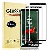Lixuve Protector Pantalla para Samsung Galaxy Note 9 Vidrio Templado, Cobertura Toda Cristal Templado Película Protectora con Anti-Huellas, Alta Sensibilidad, Anti-Arañazos, 2 Unidades