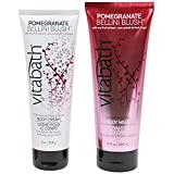 Vitabath Body Cream and Body Wash Skin Moisture Duo Set (Pomegranate Bellini Blush)