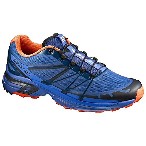 Salomon Wings Pro 2, Zapatillas de Trail Running para Hombre, Azul/(Nautical...