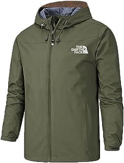 Men's Outdoor Tactical Waterproof Softshell Fleece Hoodie Full Zip up Jackets Coats, Unisex outdoor climbing autumn and wi...