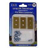 SBS® Cuchillas de repuesto para cortacésped Worx Landroid®, 9 unidades, con tornillos
