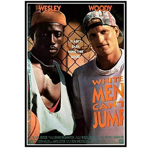 Foto sobre lienzo, los hombres blancos no pueden saltar, póster de película, póster de película, decoración del hogar, sala de estar (50X75Cm) -20x30 pulgadas, sin marco
