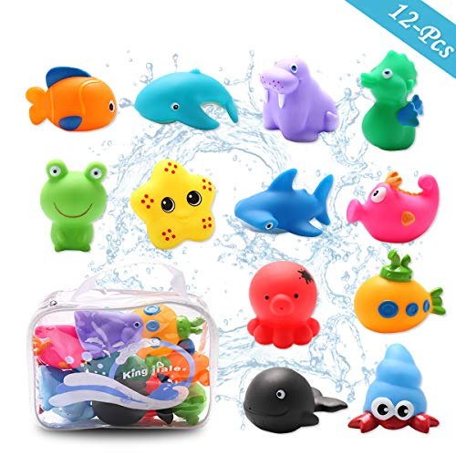 Conthfut Baby Pool Toys Toddler Bathtub Toys with 12Pcs Sea Animals Swimming...
