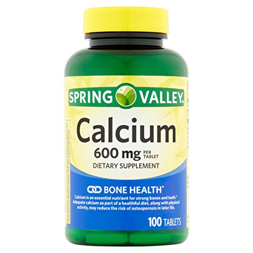 Spring Valley - Calcium 600 mg, 100 Coated Tablets