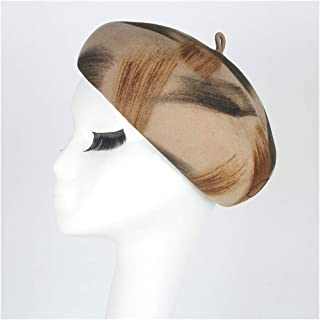 AU-KANGSHUAI 100% Australian Wool Bow Boina Feminino Hats For Girls Berets Felt Beret Hat Women British French Lady Artist Flat Cap