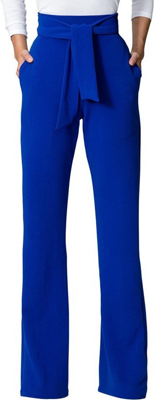 GUOLEZEEV Elegant Long Straight Leg Jumspuit Women Solid Half Sleeve Romper Playsuit
