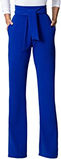 Womens High Waisted Long Palazzo Pants Wide Leg Trousers with Waist Belt
