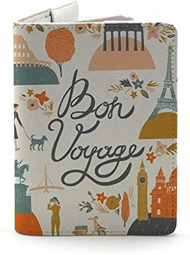 Bon Voyage - Wanderlust Collection - Leather Vintage Map - Passport Holder - Travel Accessories