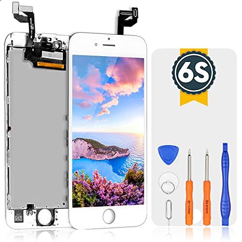 bokman Schermo Display LCD per iPhone 6s Bianca, Touch Screen Digitizer Parti di Ricambio con Strumenti di Riparazione