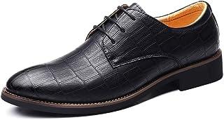 [NEOKER] ビジネスシューズ 外羽根 ストレートチップ メンズ 革靴 黒 プレーントゥ レースアップ 紳士靴 レザーシューズ ドレスシューズ 営業マン 通勤 防滑 軽量 通気性 蒸れない 防臭 カジュアルシューズ