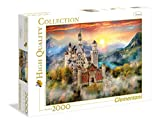 Clementoni- Collection: Neuschwanstein Los Pingüinos De Madagascar Puzzle, 2000 Piezas, Multicolor (32559)
