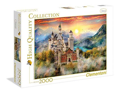 Clementoni- Collection: Neuschwanstein Los Pingüinos De Madagascar Puzzle, 2000 Piezas, Multicolor (32559)