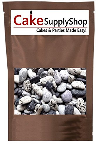 Edible Beach Sea Side Rocks For Cake Decoration and Candy Buffets (8oz Chocolate Beach Peebles)