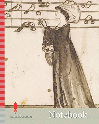 Notebook: Ladies and Animals Sideboard, Good and Bad Animals, Study of a Lady Feeding Parrots, 1860 Sir Edward Burne-Jones, Ink, Sketch, Pre-Raphaelite, Design, Wash drawing, Bird, Parrot