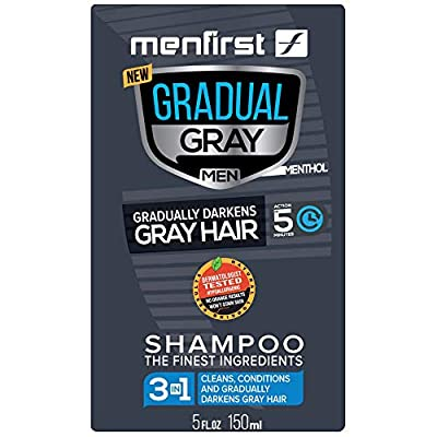 MENFIRST Gradual Gray 3-in-1 Grey Hair Reducing SHAMPOO For Men - Scalp Wash that Cleans, Darkens, Conditions, and Gradually Reduces Grey and White Hair Color