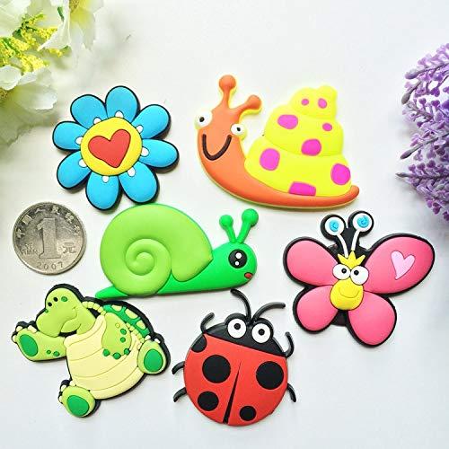 yuanchuang Calamita da frigo di Alta qualità Adesivi Coccinella Farfalla Magnete Frigo Magnete Adesivi Catoon per Bambini Educazione Precoce Magnete Frigorifero Consegna Casuale