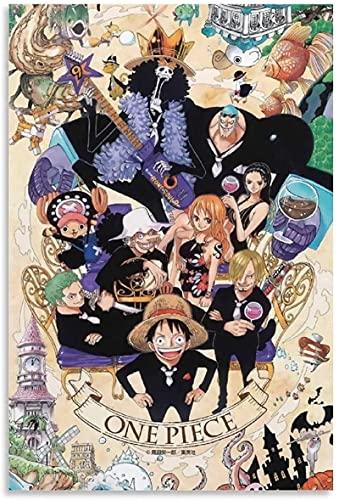 chuanglanja PóSter Y Estampados 60 * 90cm Sin Marco Foto de Grupo de una Pieza Anime Decorativo Arte de Pared Carteles de Sala de Estar Dormitorio