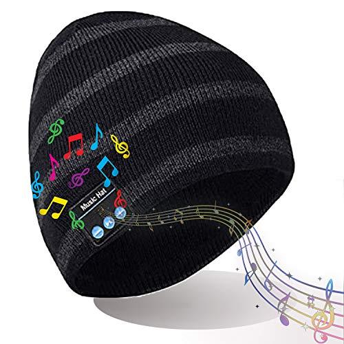 DreiWasser Bluetooth Mütze, Kopfhörer Unisex für Freisprechfunktion, Musik und Anrufe mit Bluetooth 5.0, Waschbar Geschenke