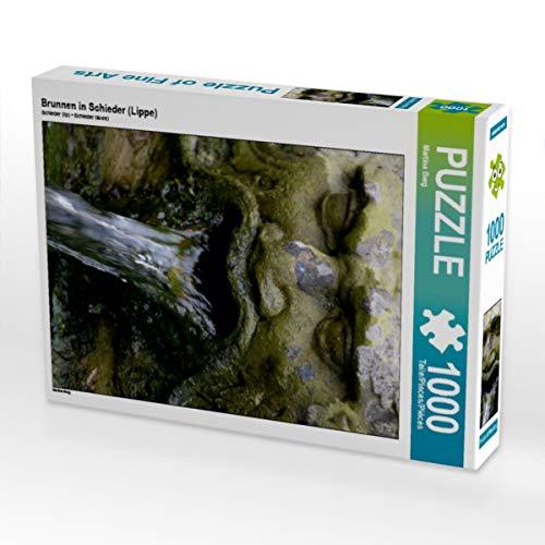 CALVENDO Puzzle Brunnen in Schieder (Lippe) 1000 Teile Lege-Größe 48 x 64 cm Foto-Puzzle Bild von Martina Berg