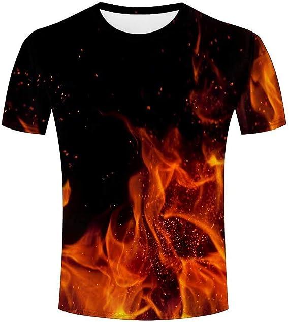 Fuego Hoguera ardiente T-Shirts 3D Unisex Hombres ...