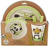 Panda 5tlg. Set aus Bambus (Esslernset) in offener Geschenkverpackung