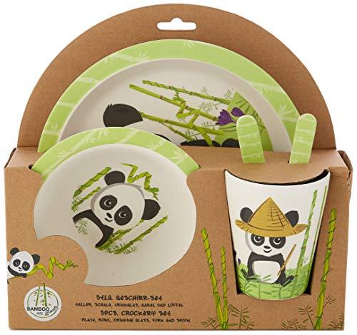 Panda 5tlg. Set aus Bambus (Essl...