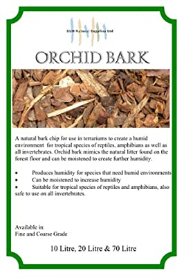 70L Fine Orchid Bark for reptiles snakes lizards iguana by KLM Natural Supplies