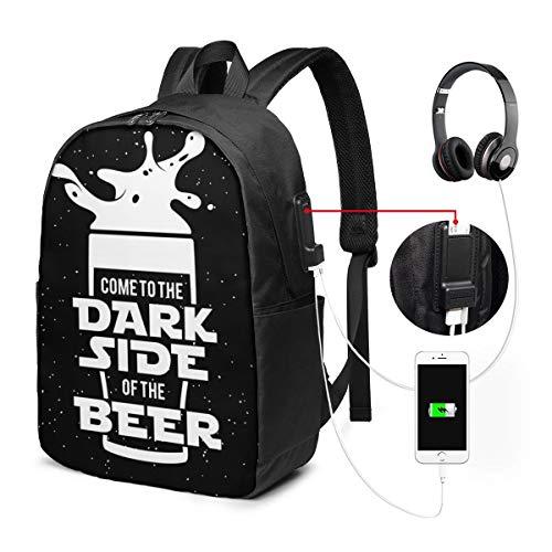 Laptop Rucksack Business Rucksack für 17 Zoll Laptop, War Side Bier Tafel Schulrucksack Mit USB Port für Arbeit Wandern Reisen Camping, für Herren Damen