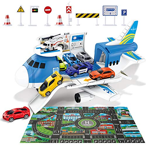 ZMZS Airplane Toys for Boys, Kids Transport Cargo Plane for 3 4 5 Year Old, 3In1 Play...