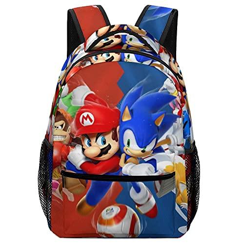 Bolsas de escuela para niños Super Mario de dibujos animados, mochilas de alta capacidad para estudiantes de primaria y secundaria, ultraligeras y con múltiples compartimentos
