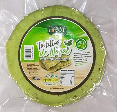 Tortillas De Nopal marca Santo Corral