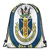 Yuanmeiju Navy USS John S McCain Ddg56 3D Print Drawstring Backpack Rucksack Shoulder Bags Bolsa de Gimnasio For Adult 17'X14'