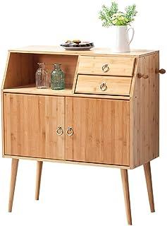 QULONG La Simplicidad De Bambú Aparador De Cocina Tazón Gabinete Caja De Almacenamiento Simple Armario Sala De Té Gabinete...